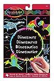 Melissa & Doug- Scratch Art Dinosaur Dinosaurios Hojas de Diseños, Multicolor (15917)