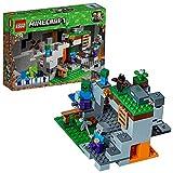LEGO Minecraft - La Cueva de los Zombis, Juguete de Construcción Inspirado en el Videojuego,...