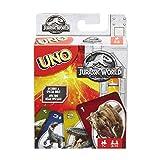 Mattel Games UNO Jurassic World, juego de cartas (Mattel FLK66)