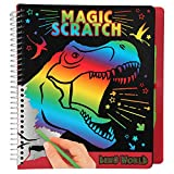 Depesche 10833 Mini Magic Scratch Book, Dino World - Libro para Colorear
