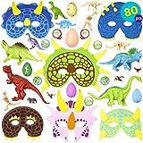 THE TWIDDLERS Conjunto de 80 Granel Juguetes de Mini Dinosaurios Surtidos - Amplia selección -...