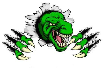 Tiranosaurio rex para dibujar y colorear