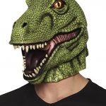 mascara t-rex color verde y de latex