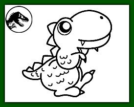 dinosaurio bebe para pintar dinosaurio rex dibujo