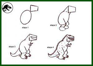pasos para aprender a pintar un dinosaurio rex