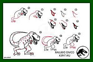 pasos para aprender a pintar un t-rex facil