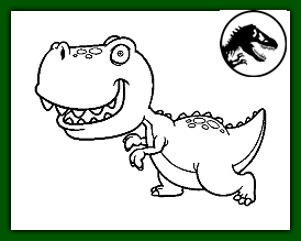 dinosaurio amigable e infantil para niños