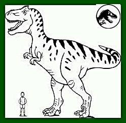 hombre junto a dinosaurio t-rex