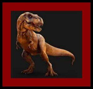 t-rex pose de cuerpo completo