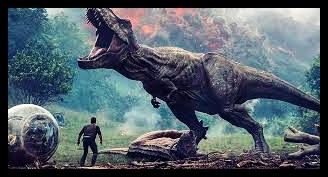 t-rex amenazando a humano