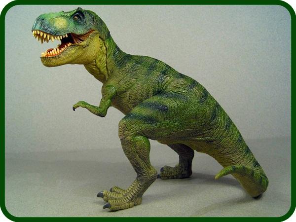 Dinosaurio de plastelina hecho a mano efecto real