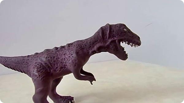 como hacer un t-rex dinosaurio de plastelina