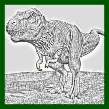 dinosaurio rex dibujo para pintar con pinturas