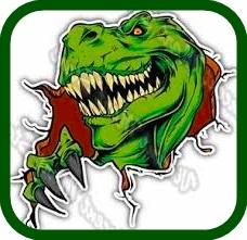 imagen de dinosaurio de colorear