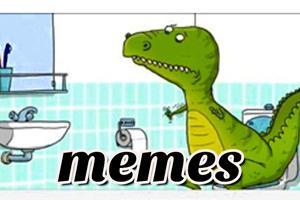 memes y chistes de dinosaurio rex