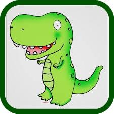 pintado en papel para calcar dinosaurio