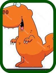 T-Rex facil de pintar y aprender