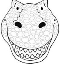 impresion para colorear careta t-rex