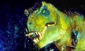 cabeza de tiranosaurio rex en imagen, foto real