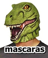 caretas de latex de dinosaurios