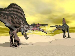 pelea de stegosaurios