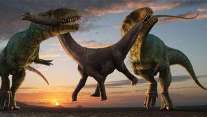 dibujo descuartizando un dinosaurio
