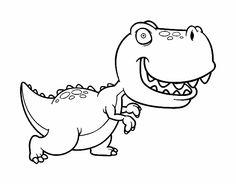 gracioso dinosaurio rex