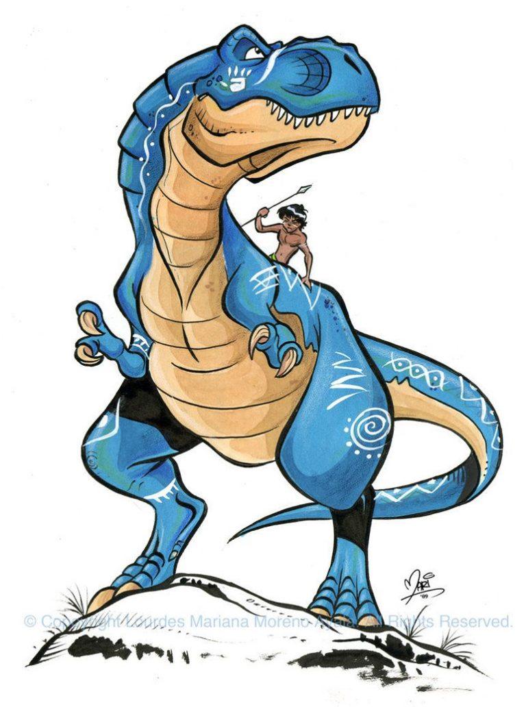 dibujo perfecto dino rex