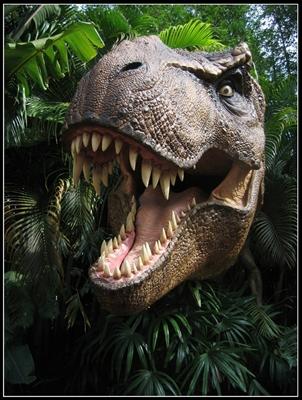 dinosaurio escondido