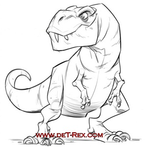 tyranosaurio posand dibujo
