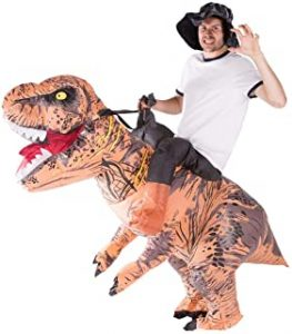 Disfraz Hinchable de Dinosaurio Adulto amazon
