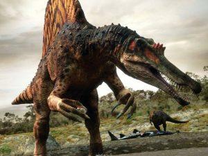 dinosaurio cazando