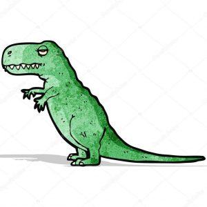 pintura de dinosaurio verde
