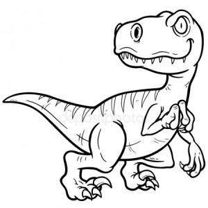 dibujo dinosaurio en blanco y negro
