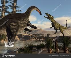 enfrentamiento de dinosaurios