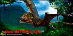 pterosaurio agresivo pintura