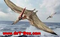 dinosaurio volando en el mar
