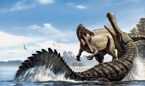 cocodrilo contra dinosaurio