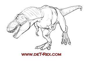 tiranosaurio pintado