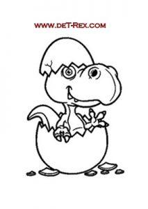 dinosaurio naciendo del huevo