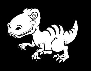 dino rex para dibujar