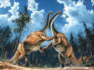 brachosaurios peleando