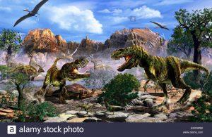 riña entre dinosaurios