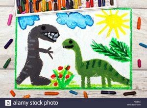 pintura dinosaurios