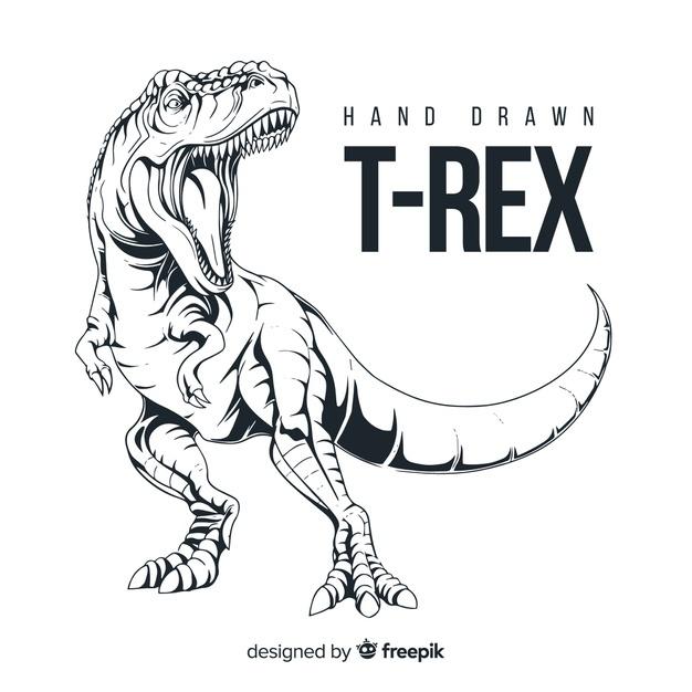 ️Dibujos del T-rex Para Descsargar y colorear【🔥2020🔥】