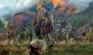 jurassicworld t-rex contra humanos y triceraptops