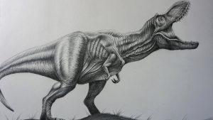 dibujo de t-rex a lapiz profesional