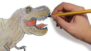 dibujo rex a lapiz y color
