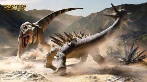 batalla de dinosaurios