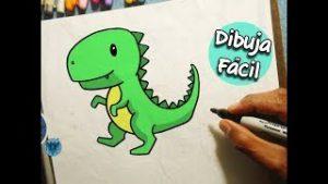 dibujal facil un donosaurio rex